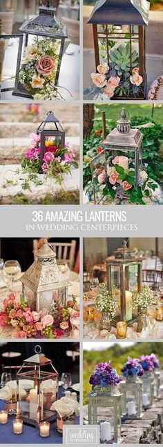 36 Amazing Lantern Wedding Centerpiece Ideas ❤ We propose to consider lantern wedding centerpiece ideas with candles or beautiful flowers inside. See more: www.weddingforwar... #weddings #decoration