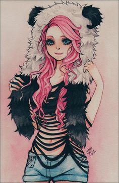 chica anime de cabello rosa - Buscar con Google