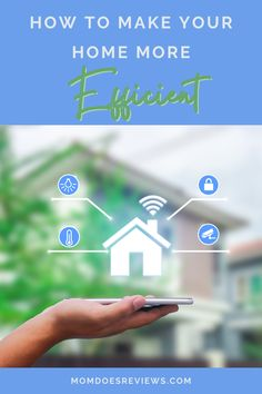 6 Home Improvements to Make Your Home More Efficient - Mom Does Reviews Smart Door Locks, Smart Lights, Dark House, All Of The Lights, Home Automation, Simple House, Say Hi, Smart Home, Save Energy