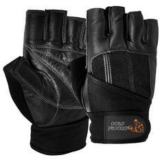 GF-100114 Fitness Gloves, Goat Leather with Foam Padding, Spandex Fabric, Long Cotton Fabric Strap with Velcro Fastener.