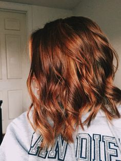 reddish-brown hair