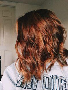 reddish-brown hair