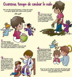Cuaresma, Tiempo De Cambiar Lo Malo Catholic Lent, Catholic Crafts, Catholic School, Religion Catolica, Spiritus, Hobbies And Interests, Religious Education, Jesus Is Lord, Bible Stories