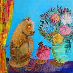Мария Пешкун художница: 1 тыс изображений найдено в Яндекс.Картинках Cat Art, Painting, Color, Spectrum, Anna, Gatos, Painting Art, Colour, Paintings