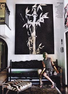 Image of photographer Mario Testino's Los Angeles hacienda as seen in the March 2012 issue of Vogue Magazine.