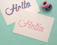 Omiyage Blogs: DIY Washi Tape Script Cards