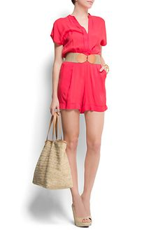 Love this watermelon jumpsuit by Mango. Perfect for a Sunday brunch.