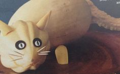 NEED A CRAFTY IDEA?? No this isn't Mister, but it is a Halloween cat for you cat lovers to craft out of squash...