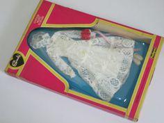 Pedigree Sindy 44370 White Wedding Outfit Dress 1980   eBay