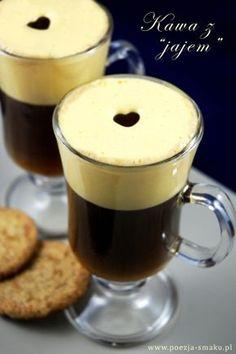 Kawa z jajem (Egg Coffee - recipe in Polish) Egg Coffee, Coffee Love, Coffee Milkshake, Coffee Drinks, Polish Desserts, Coffee And Cigarettes, Coffee Recipes, Hot Chocolate, Pudding