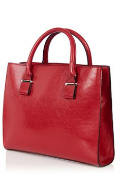 Bags & Purses | Red CLEAN PATENT CITY BAG | Warehouse Christmas Day Outfit, Work Bags, Winter Warmers, City Bag, Dark Red, Saddle Bags, Outfit Of The Day, Purses And Bags, Handbags