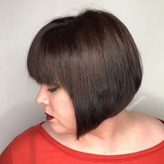 46 Bob With Bangs Hairstyle Ideas Trending for 2019 - Style My Hairs Cute Bob Haircuts, Bob Hairstyles With Bangs, Bob Haircut With Bangs, Haircuts For Fine Hair, Wig Hairstyles, Straight Hairstyles, Bangs Hairstyle, Hairstyle Ideas, A Line Bob With Bangs