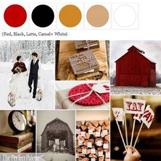 {Chilly Winter Day}: A Palette of Red, Black, Latte, Camel + White via The Perfect Palette xo