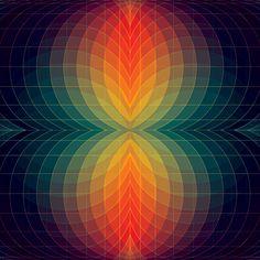 Op-Art Lamp and Tie-Dye Cloud: left but not alone. I'm right this time! Geometric Patterns, Geometric Artwork, Geometric Designs, Textures Patterns, Geometric Shapes, Op Art, Illustration, Grafik Design, Fractal Art