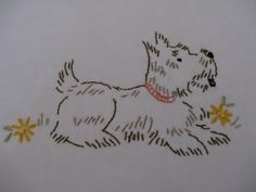 Quilting Blog - Cactus Needle Quilts, Fabric and More: Scottie Dog Embroidery Set #2