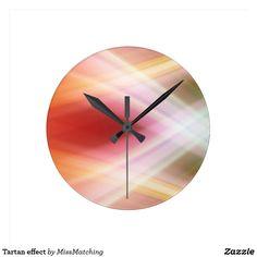 Tartan effect round clock