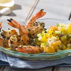 Grilled Shrimp Cocktail with Yellow Gazpacho Salsa Recipe at Cooking.com