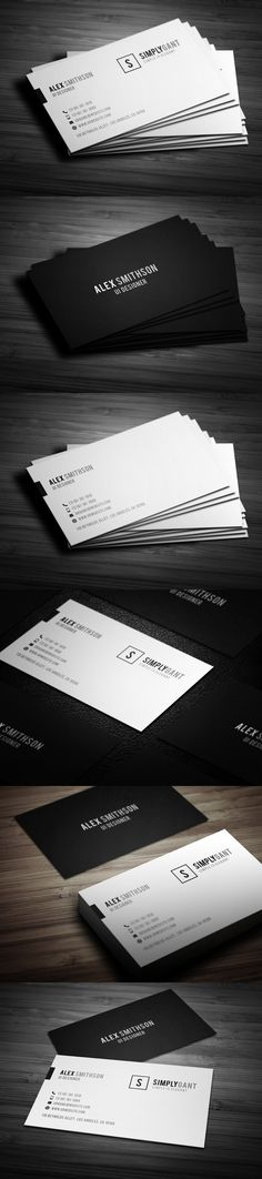 Sleek Elegant Business Cards. Creative Business Card Templates. $6.00