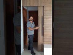 Painel de TV, Porta de Correr e Guarda Roupa. - YouTube My House, 3 D, Mirror, Youtube, Furniture, Home Decor, Closets, Hidden Bed, Tv Rooms