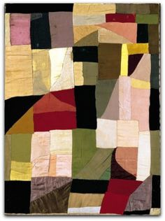 Sonia Delaunay Capa de Berço de 1911 Musée d'Art Moderne de la Ville de Paris http://gabineted.blogspot.com.br/2014/10/sonia-delaunay-as-cores-da-abstracao.html