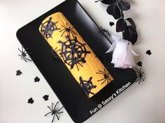 Plate & Palate: Halloween Swiss Roll by Angela Seah Thulin Swiss Rolls, Cake Rolls, Sunglasses Case, Plate, Halloween, Blog, Dishes, Plates, Blogging