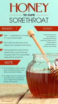 Method – 1: (Honey)  Using honey alone is very effective in soothing the affected tissues and clears mucus.