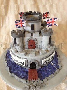 Boys Castle Cake from Custom Cake Art www.facebook.com/customcakeart