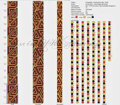 """Схема """"Греческие треугольники"""" для жгута на 15 бисерин. :: УЮТная жизнь - блог о рукоделии и не только"""