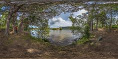 Loch An Eilein, scotland: stunning 360 HD quality interactive panorama + background sound of the loch/trees at the time.