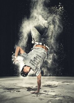 Break Dance with Flour Aperture: f/7.1 ISO: 100 Exposure: 1/250s Focal Length: 35mm