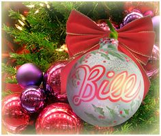 """Bill"" Ornament / Christmas Ornament / Days of our Lives / #DAYS"