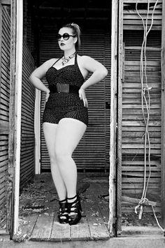full figured retro style bathing suit