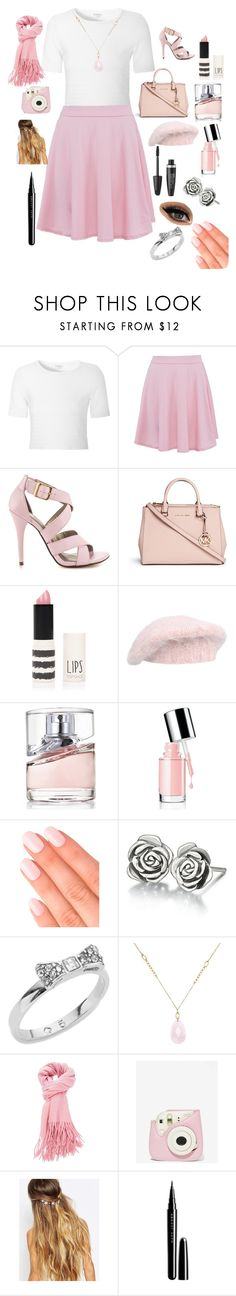 """""""check out my pink"""" by winternightfrostbite ❤ liked on Polyvore featuring Glamorous, Michael Antonio, Michael Kors, Topshop, malo, BOSS Hugo Boss, Elegant Touch, Max Factor, Chamilia and Kate Spade"""
