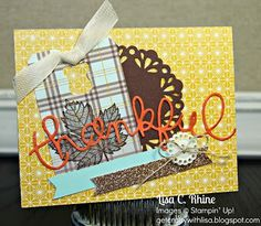 Image result for Expressions Thinlet Dies Stampin Up cards