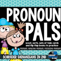 Pronouns Activities and Anchor Charts Pronoun Activities, Sorting Activities, English Pronouns, Anchor Charts, Task Cards, School Ideas, Writing, Watch, Type