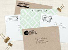 Why not make the outside of the envelope just as fancy as the inside? Try adding a beautiful custom stamp!