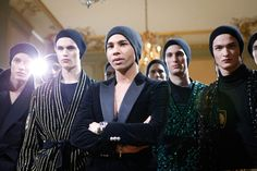 Olivier Rousteing and his Balmain Army at AW15 Paris. See more here: http://www.dazeddigital.com/fashion/article/23347/1/balmain-aw15