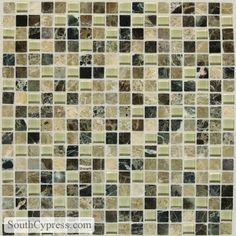 "Legacy Glass 5/8"" x 5/8"" - Tannery Blend Mosaic By SouthCypress.com"