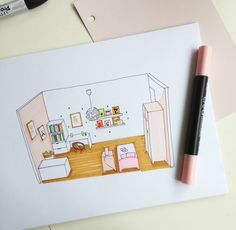 croquis Shaïly 2 Deco, Office Supplies, Justine, Petite Fille, Hobby Lobby Bedroom, Sketch, Paint, Deko, Dekoration