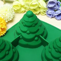 Amazon.com: Mehome 3D Xmas Tree Silicone Mold Cake Mould Christmas Cookie Chocolate Baking Mold Christmas Fondant Cake Mold: Kitchen & Dining