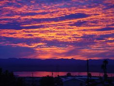 Winter sunset at Lake Havasu