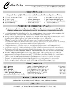 Medical Office Manager Resume office manager resume example Office Manager Resume