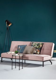Bohemian Living Rooms, Living Room Green, Bedroom Green, Pink Sofa Bed, Industrial Chic Decor, Contemporary Curtains, Mid Century Bedroom, English Decor, Aesthetic Bedroom