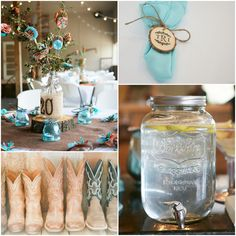 Country Wedding Decorations #CountryWedding #Country #Weddings Make sure to follow Cute n' Country at http://www.pinterest.com/cutencountrycom/