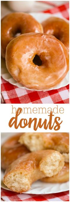 Homemade Donuts - The dough for the donuts includes just a hint of cinnamon and nutmeg, plus a buttery glaze. So much better than store bought!!