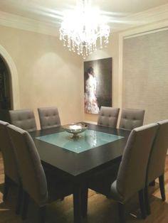 Cantoni Modern Square Dining Table 8 Custom Chairs   EBay