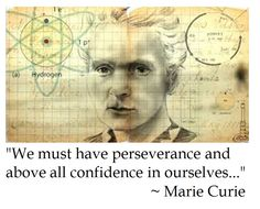 Marie Curie on Perseverance