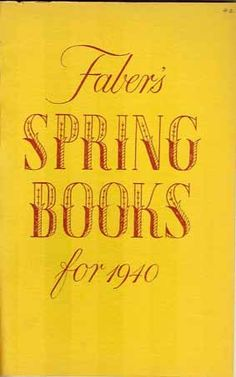 Faber catalogue, spring 1940 by Faber Books, via Flickr