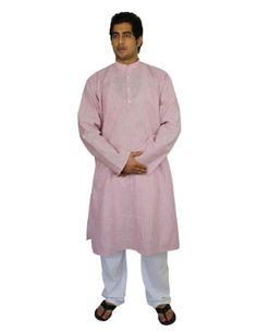 Handmade Cotton Men's Kurta Pajamas Set Red Black Striped- Traditional Indian Costume - Perfect for Casual Summer Dress ShalinIndia http://www.amazon.com/dp/B00HU3GBK8/ref=cm_sw_r_pi_dp_b5O8vb0TXE8C0