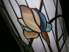 Купить Витражная колонна с подсветкой. - световая колонна, колонна, Витраж, Витраж Тиффани, стекло, цветы